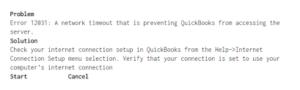 QuickBooks Error Code 12031: